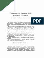 Ensayo de una tipología de la literatura fantástica - Ana María Barrenechea