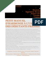 Manuel d'harmonie débutant