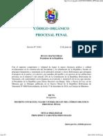 Codigo Organico Procesal Penal