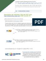 Resultados Del Validador CSS Del W3C Para Http___mildomicilios.netai