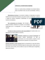 PRINCIPIOS DE LA SECRETARÍA DE MARINA
