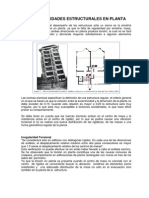 Irregularidades Estructurales en Planta