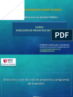 Sesión I DIRECCION DE PROYECTO UCV