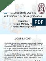 Producción de CO2 y su utilización en bebidas gasificadas