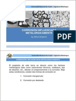 Corrosión influenciada metalurgicamente 2013
