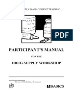 Drug Supply Management-Participants Manual