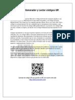 Propuesta del Sistema Generador y Lector códigos QR