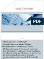 Factoraje Financiero y Autofinanciamiento