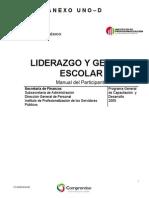 Manual Del Participante Liderazgo y Gestion Escolar
