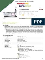 BENQ MP780ST - Projector WXGA (1280 x 800) - Cetak Harga Dan Spesifikasi