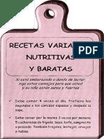Tabla Recetas