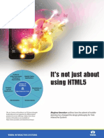 Its Not Just About Using HTML5