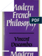 Descombes - Modern French Philosophy