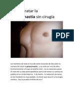 Cómo tratar la ginecomastia sin cirugía