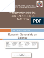 Fundamentos de Balance de Materia