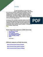 About Delhi University