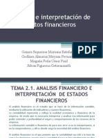 Analisis e Interpretacion de Datos Financieros