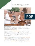 Why No Bharat Ratna for Atal Bihari Vajpayee