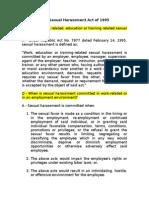 Anti-Sexual Harrassment Act Fr USJR