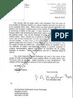 VRK Letter - SL Exclusive