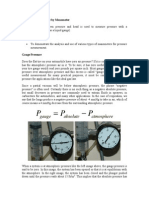 Pressure Measurement by Manometer