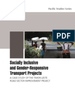 Socially Inclusive and Gender-Responsive Transport Projects