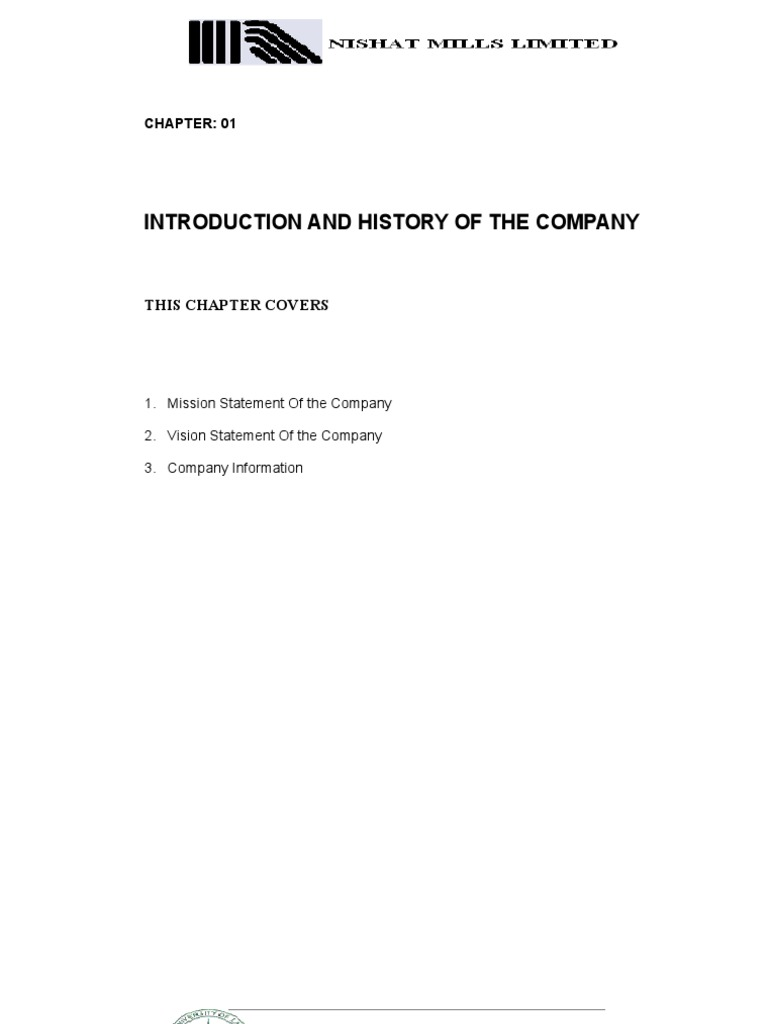 FINANCIAL POSITION OF NISHAT MILLS LIMITED | Market
