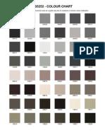 BS5252 Colour Chart.