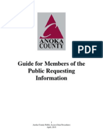 Anoka County Guide for Members of the Public Requesting Information MGDPA
