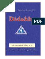 Didakhe - September_October, 2013
