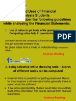 Guidelines and Uses of Financial Statement Analysis