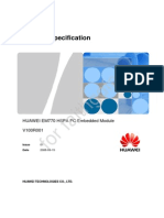 HUAWEI EM770 Product Specification V1.0
