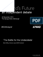 ICAS Scotland's Future Conference 22.11.13