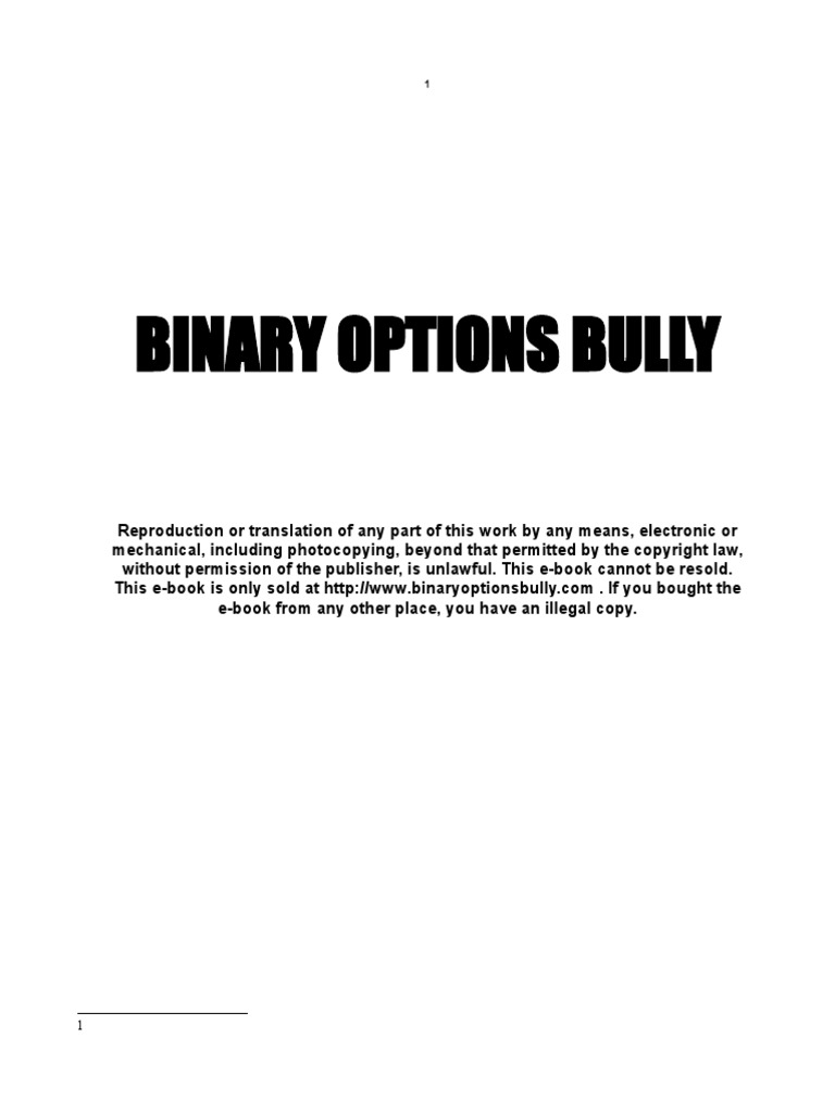 does binary options bully worksheets