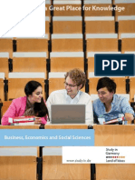 Germany - a Great Place for Knowledge - Business, Economics and Social Science