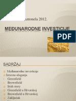 MEĐUNARODNE INVESTICIJE