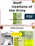 Army Staff Organizations