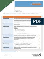 Business Case Checklist
