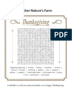Thanksgiving Word Search from Mother Nature's Farm