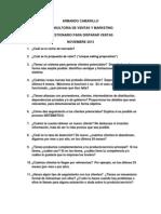 Cuestionario Para Disparar Ventas - Armando Camarillo - Noviembre 2013