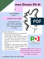 Conferenza Donne PD Ozzano