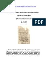 3 - Decreto Gelasiano - Condenação dos Evangelhos Apócrifos
