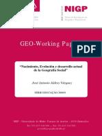 1 - Enfoque, evolucion y nacimiento de la geografía social