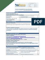 Formulario de Solicitud de Asesoramiento Legal Pro Bono Microjusticia