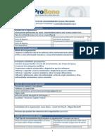 Formulario de solicitud de asesoramiento legal Pro Bono Asociación EMTC