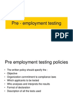 9 Pre Employment Testing