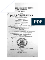 Paratrimshika With Commentary by Abhinavagupta (KSTS 18)