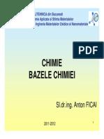 Curs 02 - Bazele Chimiei