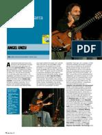 "ANGEL UNZU ""Total, con una guitarra"" (Revista Guitarra Total)"