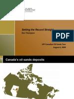 Oil Sands Developers Group Presentation